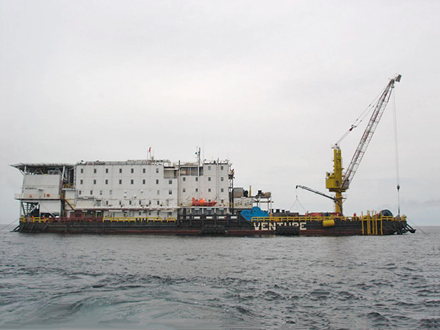 Venture Accommodation Barge Work Barge Offshore